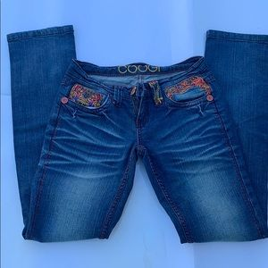 COOGI  embroidered jeans